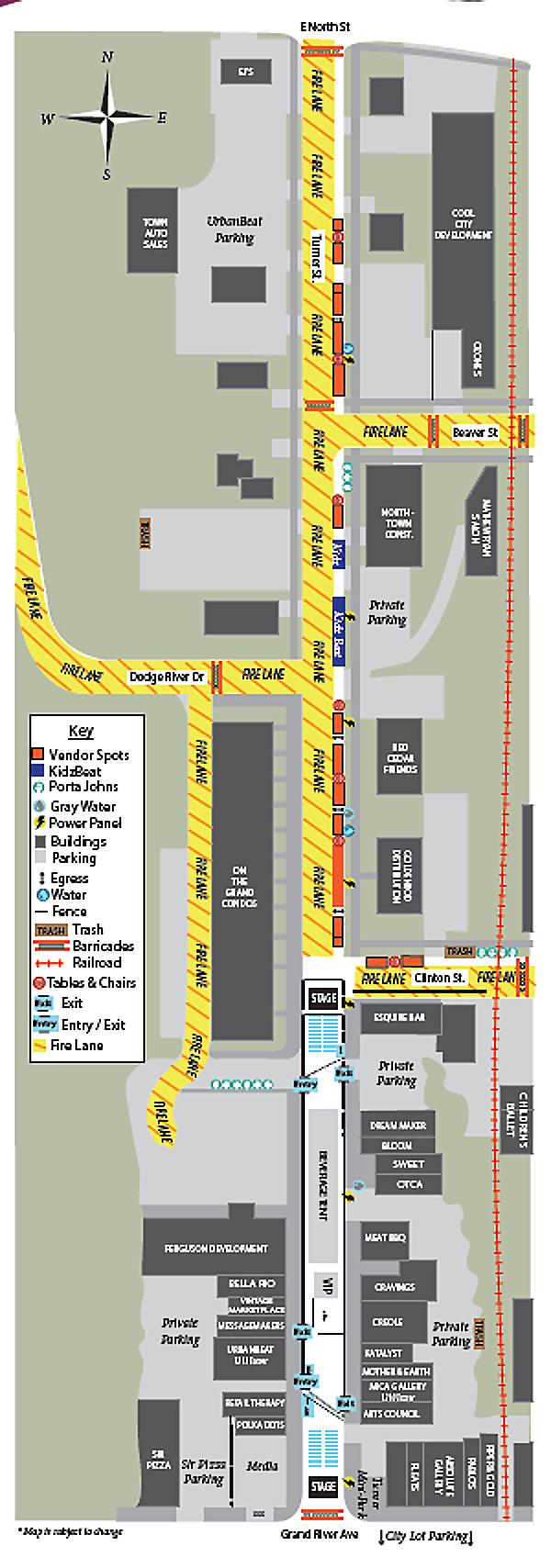 Map of Festival.