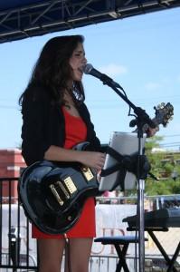 Taylor Fernandez 2012 at ABE concert.